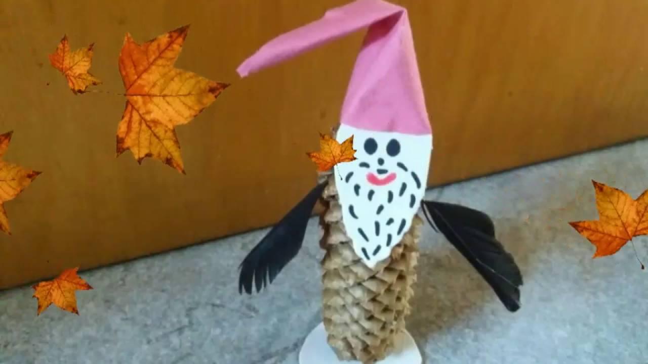 Herbst  Basteln • Wichtel aus Tannenzapfen • DIY
