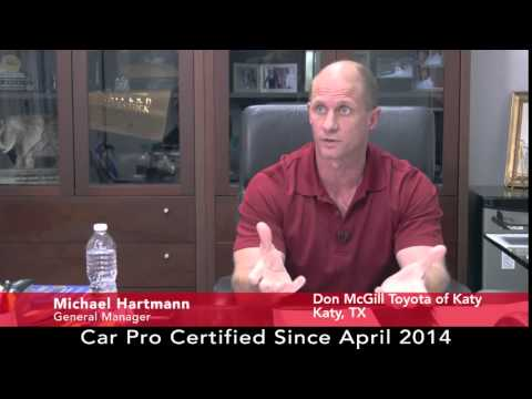 Car Pro Testimonial, Michael Hartmann, Don McGill Toyota Of Katy, 8 /15