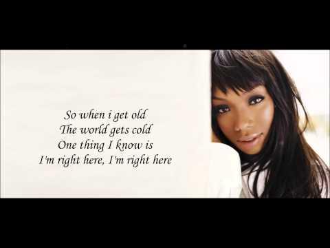 Brandy - I'm Right Here Lyrics HD