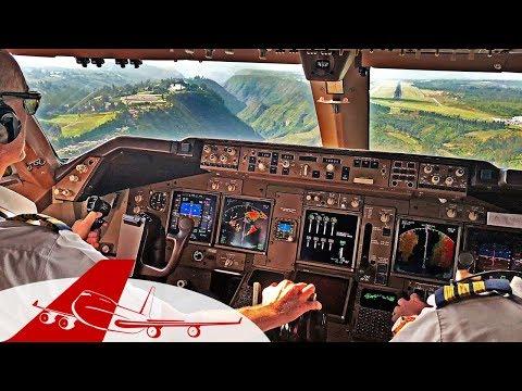 CHALLENGING LANDING QUITO - BOEING 747 COCKPIT VIEW | 4K