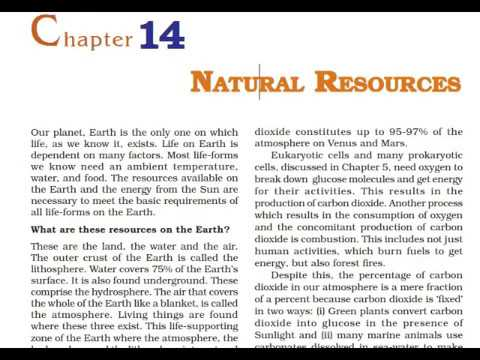 Class 9 Science Chapter 14 Natural Resources Part 1 Hindi Explanation