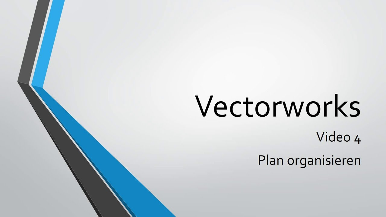 Video 4 Plan Organisieren Youtube Vectorworks Electrical