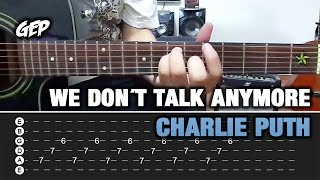 "Como tocar ""We Don´t Talk Anymore"" de Charlie Puth feat. Selena Gomez en Guitarra - Tutorial (HD)"