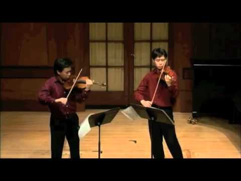 1st mov. of Prokofiev Duo Sonata in C major- Nikki and Timothy Chooi