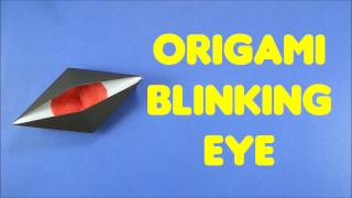 Origami Blinking Eye - Easy Tutorials for Kids - DIY Paper Crafts for Beginners