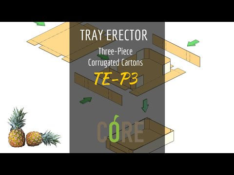 Tray Erector - Three-piece Tray (TE-P3 - CoolSeal)