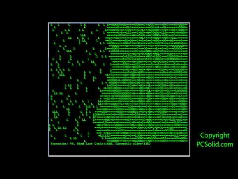 A.I. - Artificial Intelligence, Game of Life program walkthru in C++, Oldschool Console based. ACE