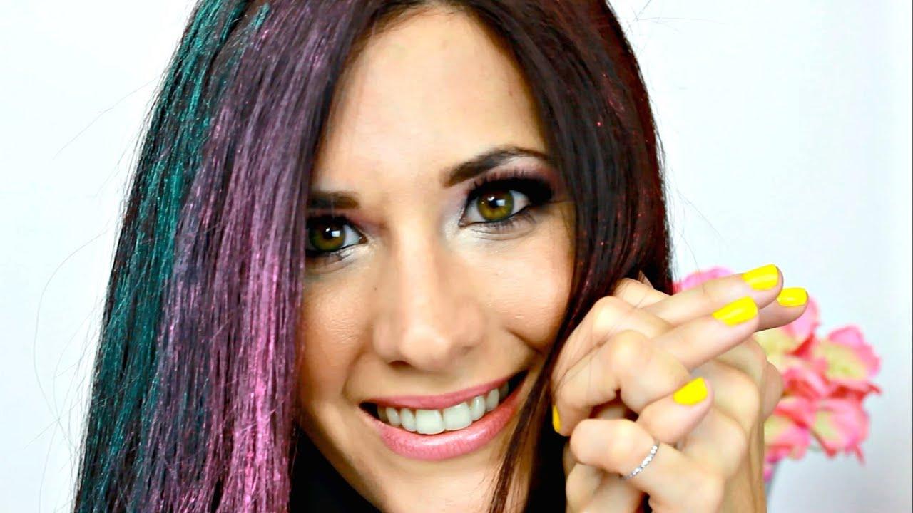 Como pintar tu cabello de colores con tiza youtube for Colores para pintar