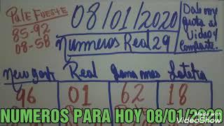 NUMEROS PARA HOY 08/01/2020 DE ENERO PARA TODAS LAS LOTERIAS