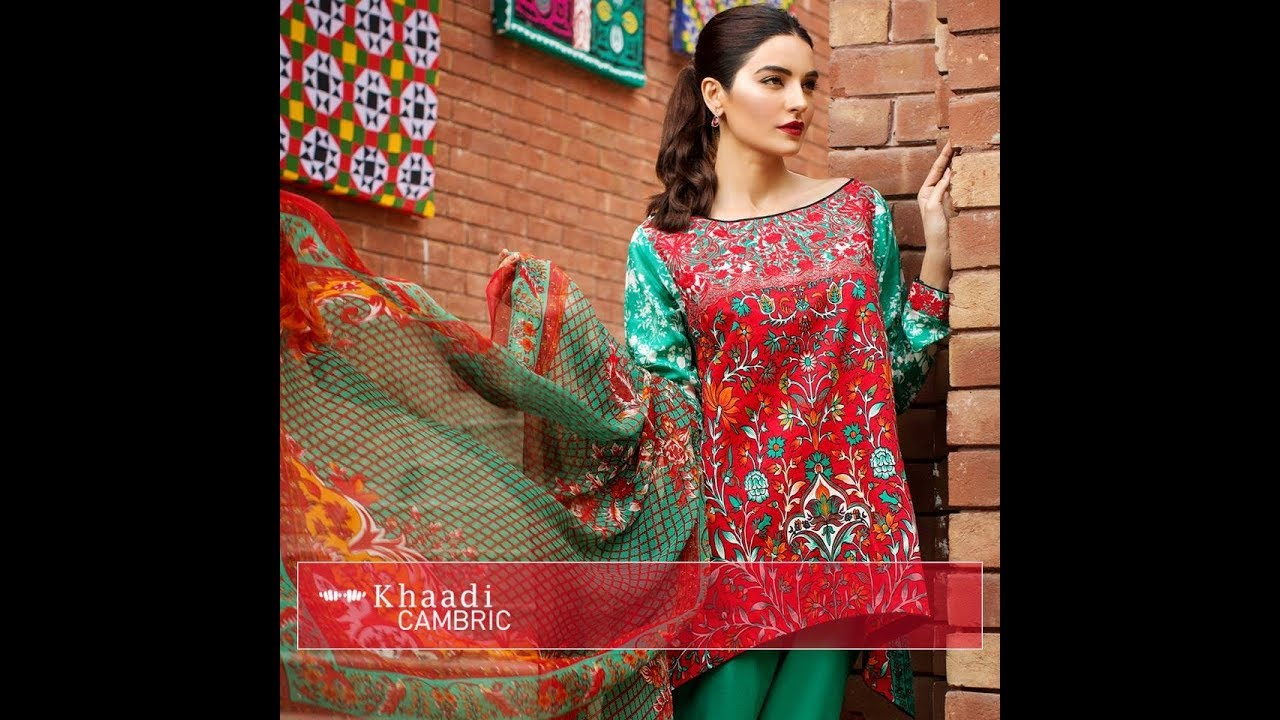 400228979c Khaadi Lawn 2 Pieces Unstitched Summer Collection 2018 Vol 2 - YouTube