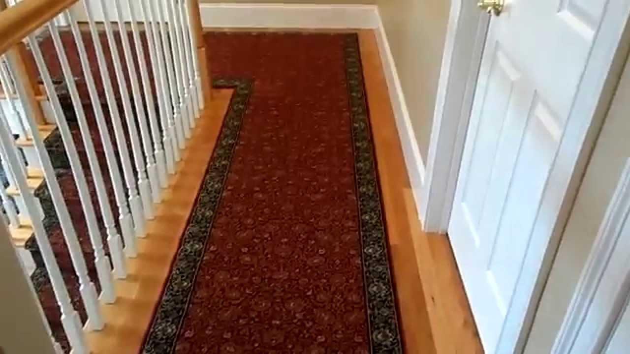 Custom Hall And Stair Runner Custom Made Foyer Rug Youtube
