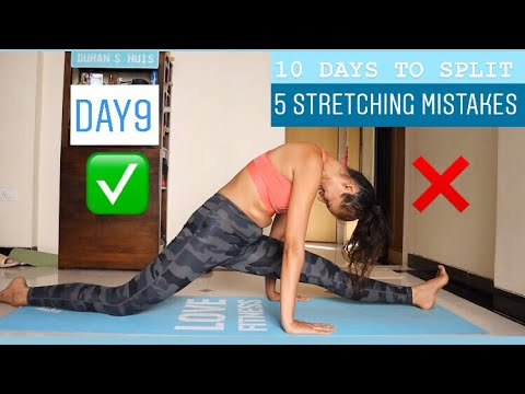 5 STRETCHING MISTAKES IN SPLITS. How to do it right? 1 Secret Tip �� ( DAY9)