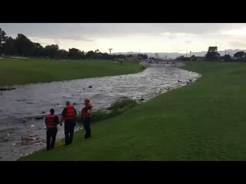 Wall of Water Strikes Vegas Golf Course, Rescue Captured in Video