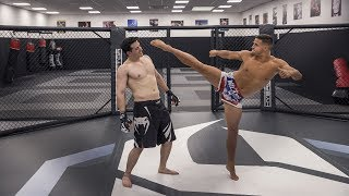 JE ME BATS CONTRE UN PRO EN UFC !!