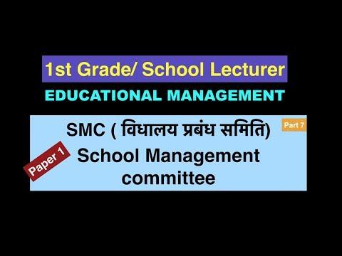 Education Management 7 SMC ( विधालय प्रबंध समिति) school lecturer exam