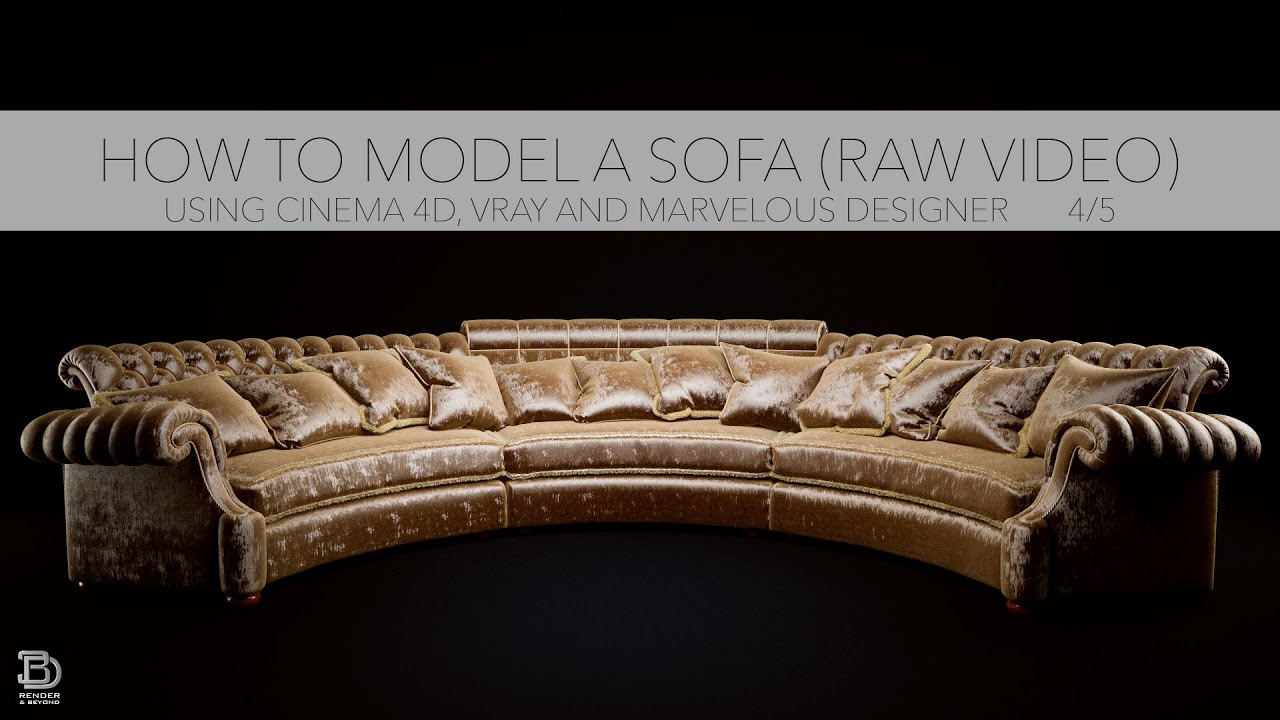 How To Model A Sofa In Cinema 4d Vray And Marvelous Designer Cgtrader