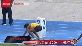 Wolmers Shauna Helps wins HEAT 3 Girls Class 2 200m- Queens/Grace Jackson meet- ROAD TO CHAMPS 2014
