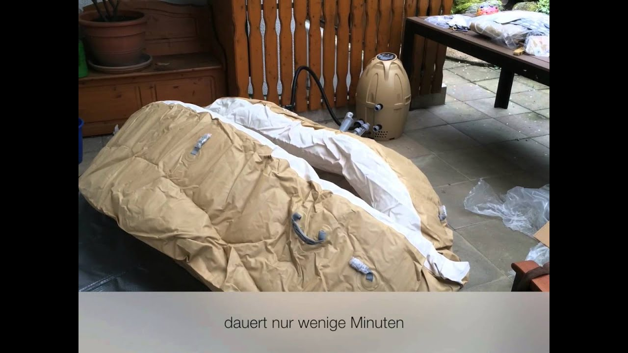 lay z spa palm springs whirlpool unboxing und aufbau. Black Bedroom Furniture Sets. Home Design Ideas