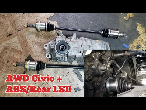 Gear-X Rear LSD Install And ABS Retrofit On My AWD Civic EM2