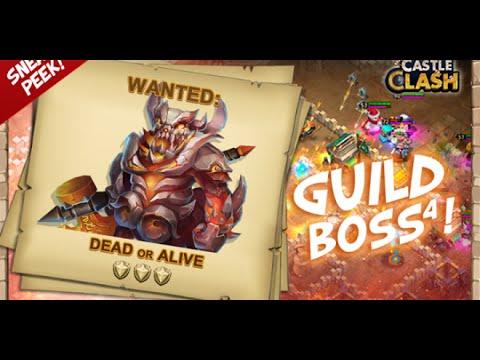 #34 Castle Clash | Boss 4 Slow Down 2.0 !!! DMG Team