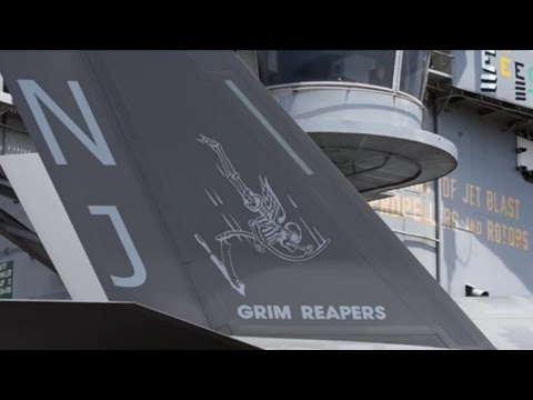 F-35C Approachs & Arrests USS George Washington Aug 2016