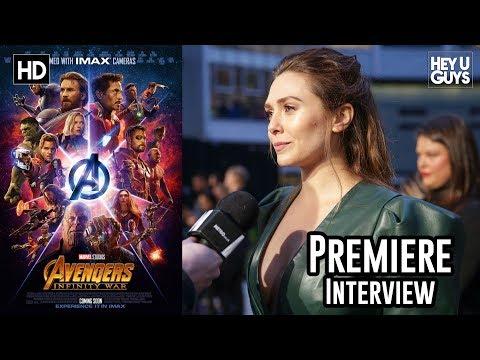 Elizabeth Olsen on Scarlet WitchVision & a solo film  Avengers Infinity War Premiere