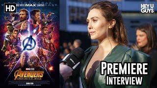 Elizabeth Olsen on Scarlet Witch/Vision & a solo film - Avengers Infinity War Premiere Interview