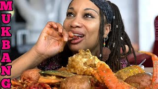 DRENCHED Cajun Seafood Boil Mukbang | Colossal Snow crabs • Crawfish • Green Mussels 먹는 쇼