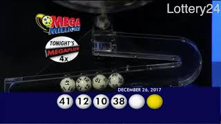 2017 12 26 Mega Millions Numbers and draw results