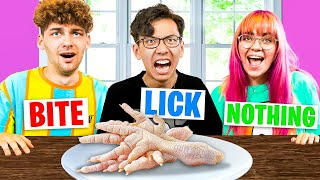 DISGUSTING Bite, Lick, Or Nothing Challenge With Poke!