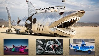 Cars, Planes, and Boats that look like Sharks!