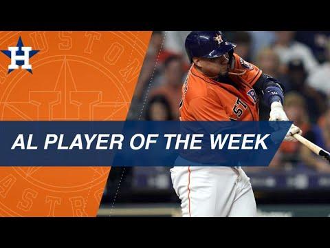 Yuli Gurriel named American League Player of the Week