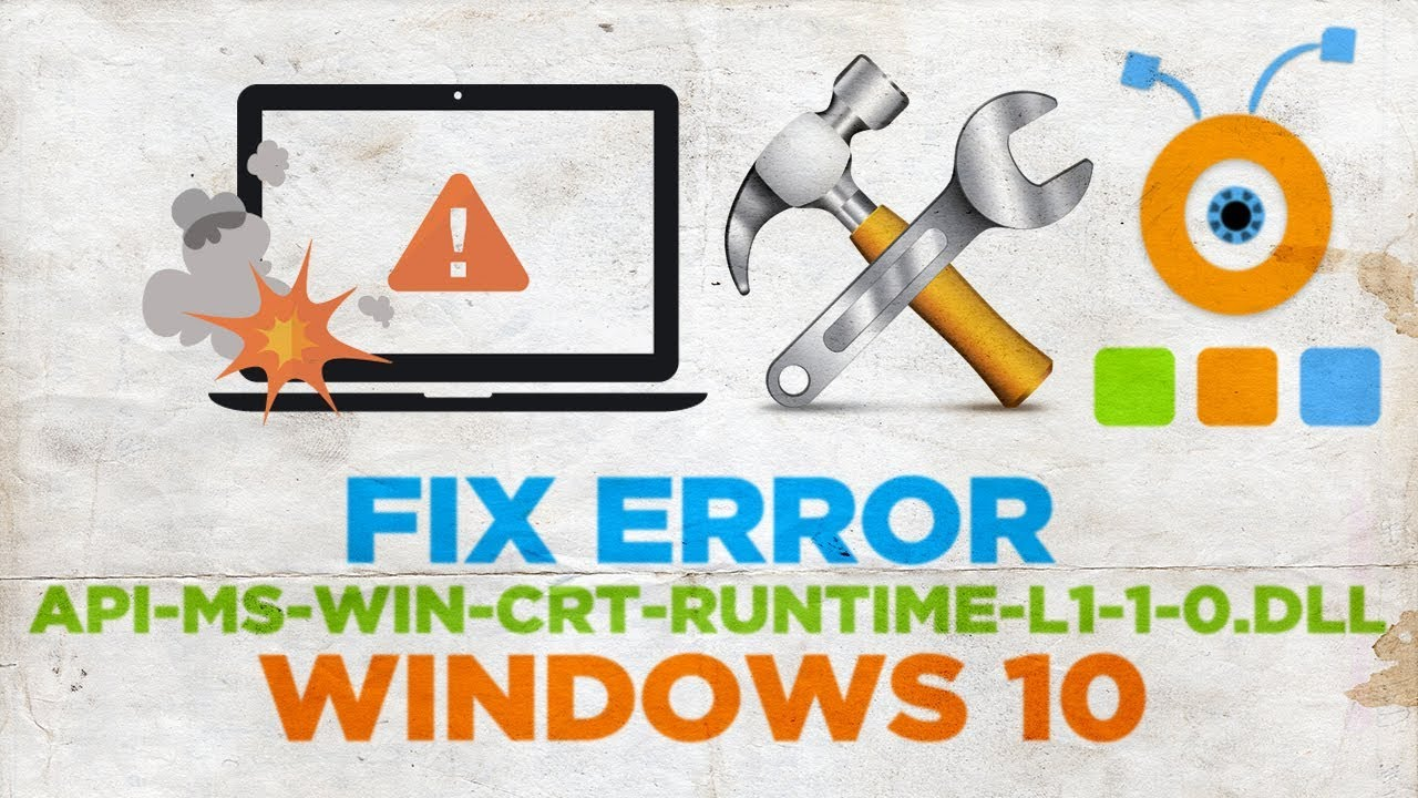 HOWZA How to Fix Error api-ms-win-crt-runtime-l1-1-0 dll in