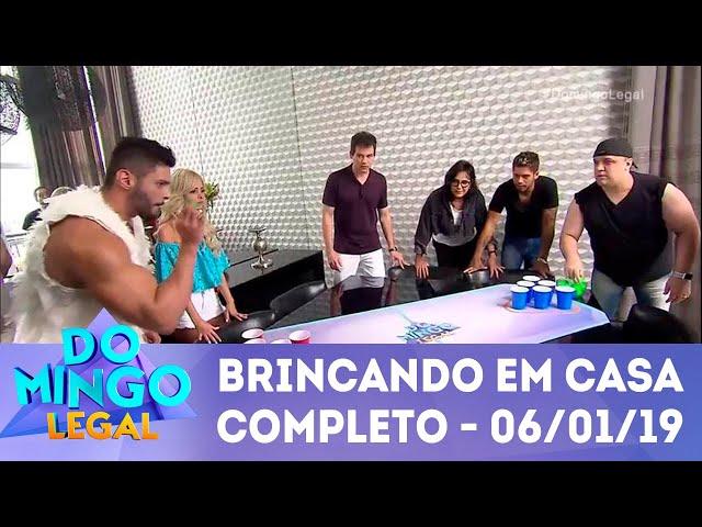 Brincando em Casa com Zé Felipe - Completo | Domingo Legal (06/01/2019)