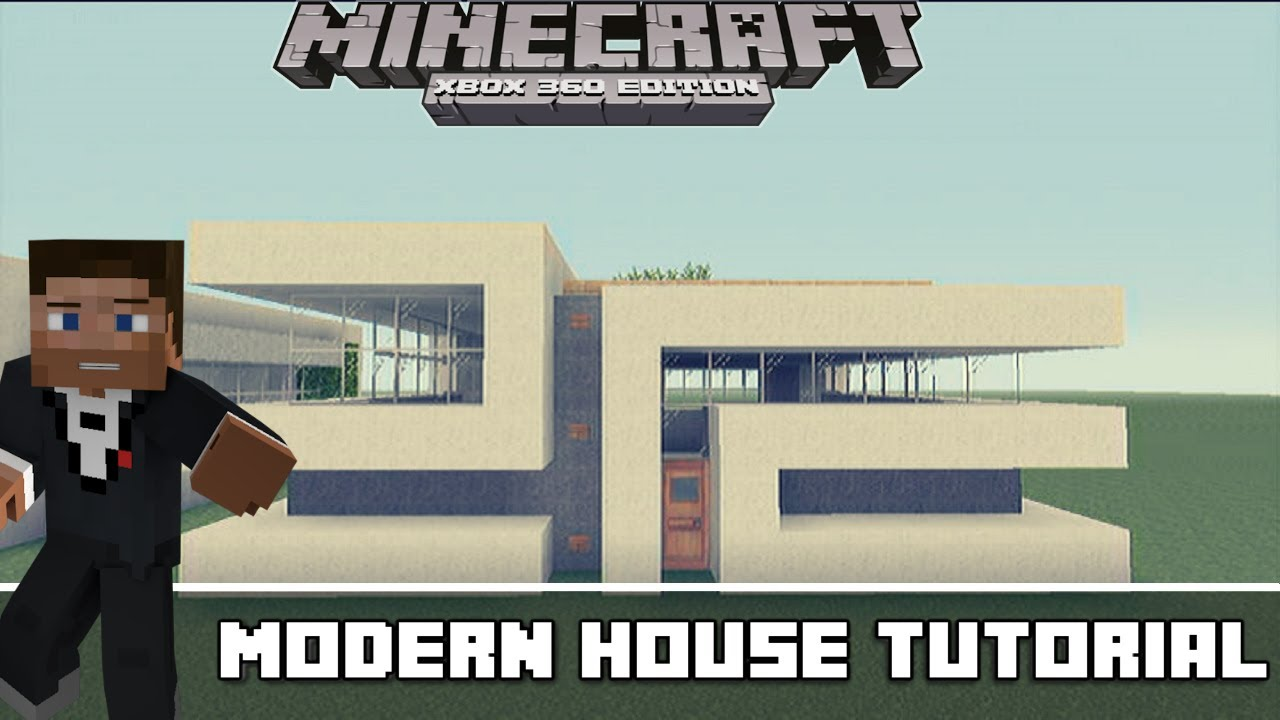 Minecraft Xbox 360 Small Modern House 2 Tutorial part 1 YouTube