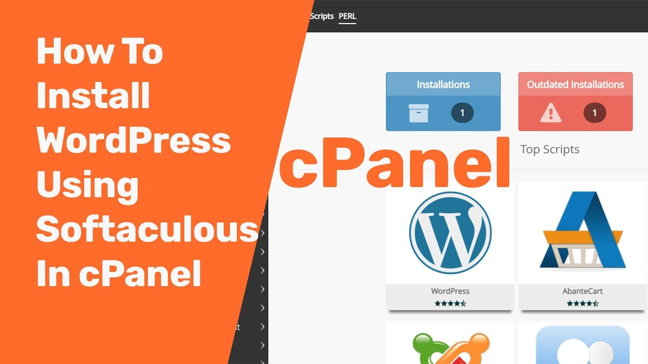 How To Install WordPress in cPanel Using Softaculous 2019 | cPanel  WordPress Install Tutorial