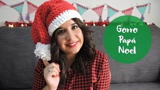 Tutorial Gorro Papá Noel de Ganchillo - Santa hat crochet tutorial