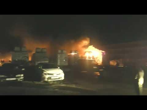 Пожар в Раменском на стоянке