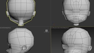 Anime head - Simple low poly model tutorial: Game Animation 1 - Class lecture recap