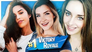 THE GIRL SQUAD IS BACK! w/ Valkyrae & Loserfruit (Fortnite: Battle Royale Gameplay) | KittyPlays
