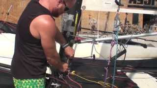 Rigging the Mainsheet and Downhaul