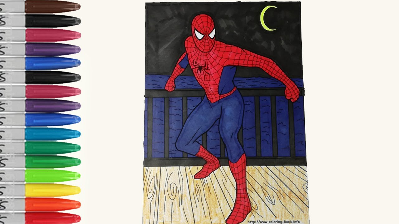 Spiderman at the beach house coloring pages sailany coloring kids