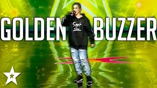 Greek Rapper Gets GOLDEN BUZZER | Got Talent Greece | Got Talent Global
