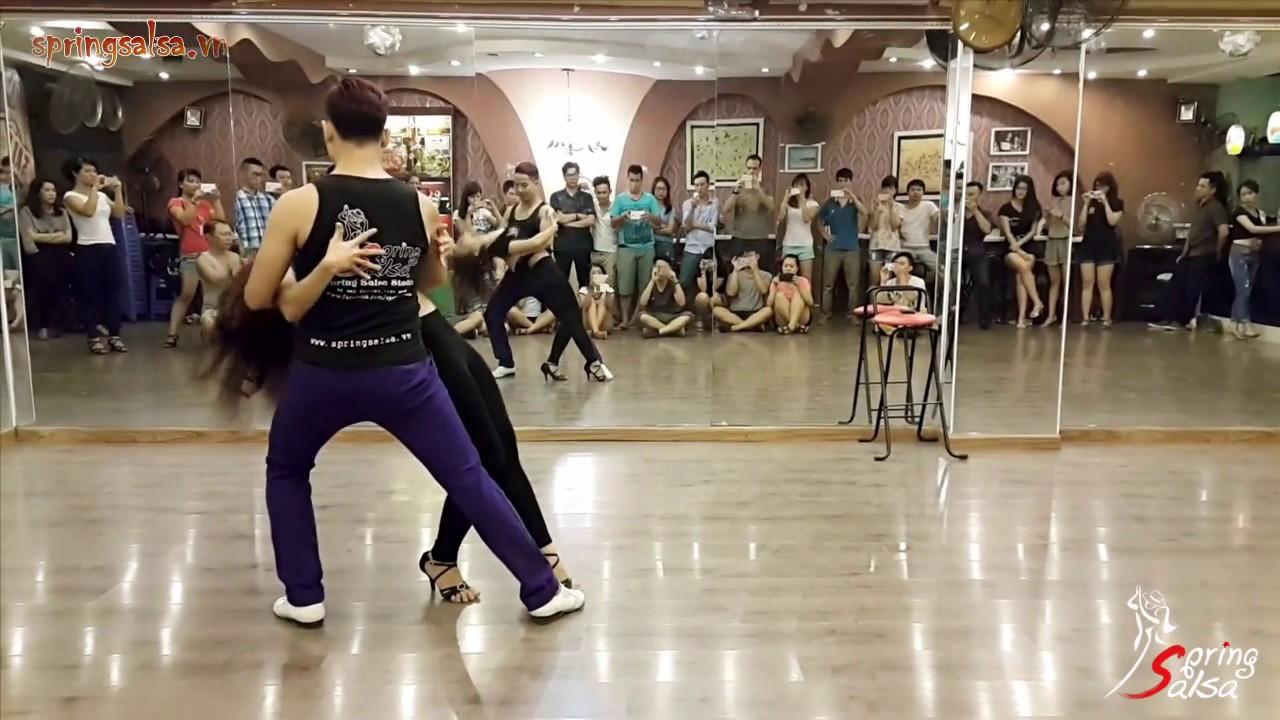 Advanced Bachata Move #01 - Ngọc Nam & Bích Ngọc (Spring Salsa, Hanoi)