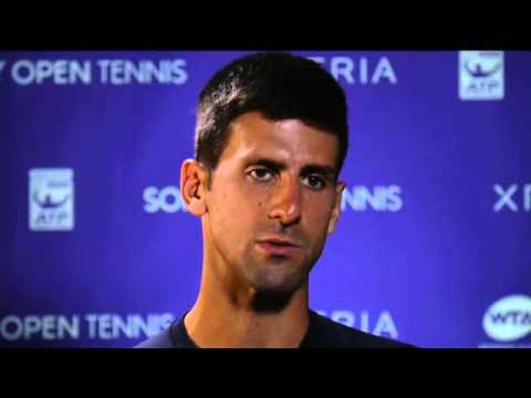 Sony Open Tennis Interview with Djokovic 3-25