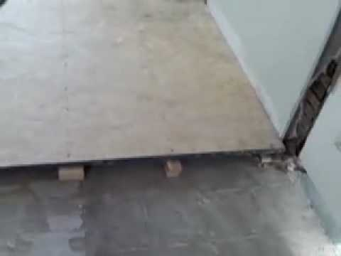Floor leveling youtube for Concrete floor leveling