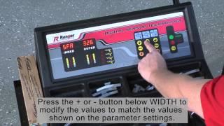 BendPak Ranger DST2420 Wheel Balancer - Parameter Settings