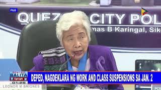DepEd, nagdeklara ng work and class suspensions sa Jan. 2