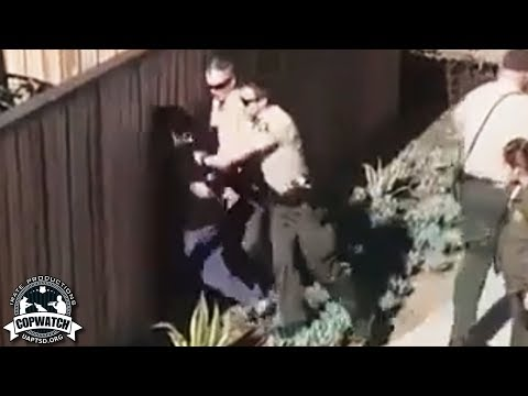 San Diego Sheriffs in Vista Caught on Camera Slamming Man's Head Into Fence