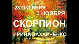 СКОРПИОН. Таро прогноз 28 октября-3 ноября 2019. Ирина Захарченко.